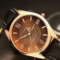 お買い得  大特価腕時計-YAZOLE 男性用 リストウォッチ クォーツ ブラック / ブラウン カジュアルウォッチ クール / ハンズ カジュアル ファッション - ブラック Brown