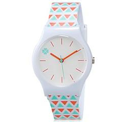 preiswerte Damenuhren-damas Armbanduhr Quartz Cool Mehrfarbig Plastic Band Analog Süßigkeit Freizeit Orange - Weiß