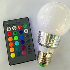 preiswerte LED-Birnen-1pc 3 W 120 lm E26 / E27 Smart LED Glühlampen A60(A19) 1 LED-Perlen Hochleistungs - LED Abblendbar / Ferngesteuert / Dekorativ RGB 85-265 V / 1 Stück / RoHs
