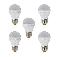 e26 / e27 żarówki kulkowe światłowodowe g45 26 smd 3022 350lm ciepłe białe 2700k ac 220-240v