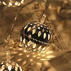 preiswerte LED Lichtstreifen-2,5 m Leuchtgirlanden 20 LEDs LED Diode Warmes Weiß Fernbedienungskontrolle / Abblendbar / Wasserfest 5 V / Verbindbar / Farbwechsel / IP44