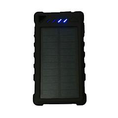 Τράπεζα ισχύς εξωτερική μπαταρία 5V 1.0A #A Φορτιστής μπαταρίας Φακός Πολλαπλοί έξοδοι Ηλιακή φόρτιση LED