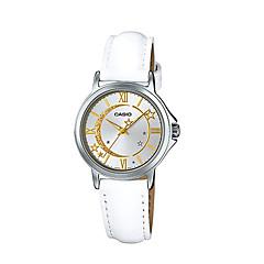 preiswerte Tolle Angebote auf Uhren-Damen Modeuhr Quartz Wasserdicht Leder Band Analog Luxus Freizeit Weiß - Weiß / Edelstahl