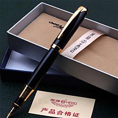 Pióro Długopis Wieczne pióra Długopis,Plastik Metal Beczka Czarny Atrament Kolory For Przybory szkolne Artykuły biurowe Paczka