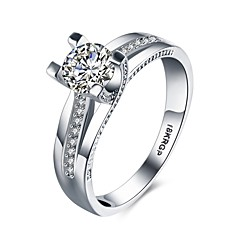 Ring AAA Cubic Zirconia Wedding / Party / Daily / Casual Jewelry Gold / Copper Women Ring 1pc,6 / 7 / 8 / 9 Silver