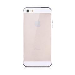 Недорогие Кейсы для iPhone-Кейс для Назначение iPhone 5 Apple iPhone X iPhone X iPhone 8 Кейс для iPhone 5 Прозрачный Кейс на заднюю панель Сплошной цвет Мягкий ТПУ