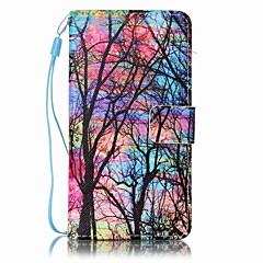 Для Кейс для Sony Кошелек / Бумажник для карт / со стендом / С узором Кейс для Чехол Кейс для дерево Твердый Искусственная кожа для Sony