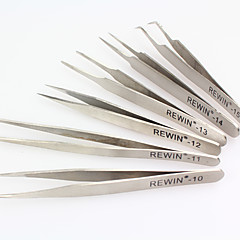 REWIN TOOL 6PCS  Stainless Steel Tweezers Set