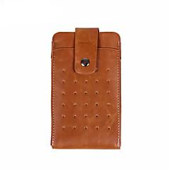 Недорогие Универсальные чехлы и сумочки-Кейс для Назначение универсальный Другое Кошелек Чехол Сплошной цвет Мягкий Кожа PU для