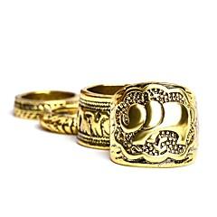 Недорогие Набор колец-Муж. Жен. Бижутерия Серебряный Золотой Сплав Мода Для вечеринок Повседневные Бижутерия