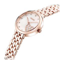 preiswerte Tolle Angebote auf Uhren-KEZZI Damen Armbanduhr Quartz Schlussverkauf Cool / Edelstahl Band Analog Heart Shape Freizeit Modisch Silber / Rotgold - Silber Rotgold