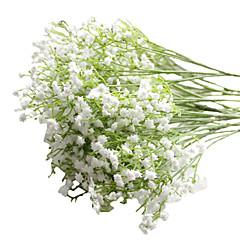 abordables Decoración de Oficina-6pcs/Set 6 Rama PU Gipsófila Flor de Mesa Flores Artificiales 23 inch