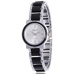 preiswerte Tolle Angebote auf Uhren-Damen Quartz Simulierter Diamant Uhr Armband-Uhr / Armbanduhren für den Alltag Legierung Band Charme Freizeit Böhmische Modisch Schwarz