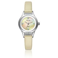 preiswerte Tolle Angebote auf Uhren-Vilam Damen Armbanduhr Wasserdicht / Imitation Diamant Leder Band Glanz / Modisch Weiß