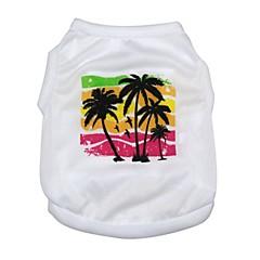 voordelige Hondenkleding & -accessoires-Kat Hond T-shirt Gilet Hondenkleding Flora / Botanisch Wit Textiel Binnenwerk Kostuum Voor huisdieren Heren Dames Schattig
