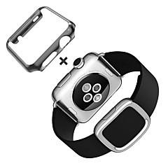 horlogebandje voor apple watch moderne gesp lederen bandband met etui