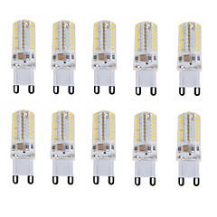 4W E14 / G9 LED-lamper med G-sokkel T 64 SMD 3014 180-210 lm Varm hvit / Kjølig hvit / Naturlig hvit Dekorativ / Vanntett V 10 stk.