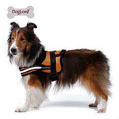 お買い得  犬用首輪/リード/ハーネス-犬 ハーネス 反射 高通気性 ソリッド メッシュ 中身 ナイロン メッシュ ブラック オレンジ レッド