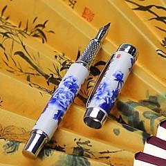 Pióro Długopis Wieczne pióra Długopis,Ceramiczny Beczka Czarny Atrament Kolory For Przybory szkolne Artykuły biurowe Paczka