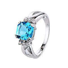preiswerte Ringe-Damen Ring Kubikzirkonia Blau Hellblau Zirkon Kubikzirkonia Modisch Simple Style Hochzeit Party Verlobung Alltag Sport Modeschmuck