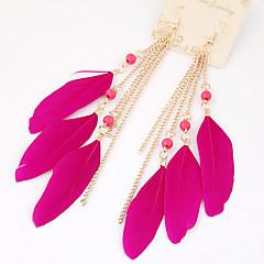 preiswerte Ohrringe-Damen Tropfen-Ohrringe - Quaste, Modisch Blau / Rosa / Regenbogen Für Party / Normal