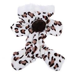 お買い得  犬用ウェア&アクセサリー-ネコ 犬 パーカー ジャンプスーツ パジャマ 犬用ウェア レオパード Brown ピンク フリース コスチューム ペット用 男性用 女性用 キュート カジュアル/普段着