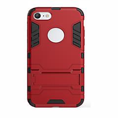 Недорогие Кейсы для iPhone 6-Кейс для Назначение Apple iPhone 6 iPhone 6 Plus iPhone 7 Plus iPhone 7 Защита от удара со стендом с окошком Кейс на заднюю панель броня