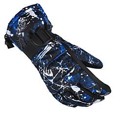 halpa -Lasketteluhanskat Miesten Naisten Pidä lämpimänä Vedenkestävä Tuulenkestävä Fleece-vuori Hengittävä lumenpitävä Erittäin elastinen