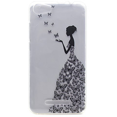 For Wiko Lenny 2 Lenny 3 Little Girl Pattern High Permeability TPU Material Phone Shell for Pulp Fab 4G