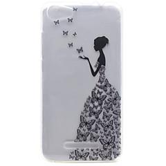 Για wiko lenny 2 lenny 3 μικρό μοτίβο κορίτσι υψηλής διαπερατότητας tpu κέλυφος τηλεφώνου υλικό για πούπουλο fab 4g