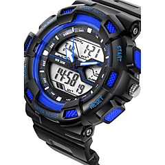 tanie Zegarki dla par-SANDA Dla par Sportowy Wojskowy Inteligentny zegarek Modny Zegarek na nadgarstek Cyfrowe Kwarc japońskiLED Chronograf Wodoszczelny Dwie