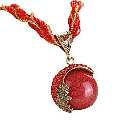 preiswerte Halsketten-Damen Türkis Anhängerketten - Böhmische, Europäisch, Modisch Rot, Grün, Blau 42+5 cm Modische Halsketten 1pc Für Party, Geburtstag, Geschenk