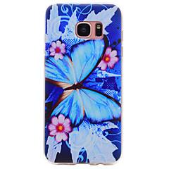 voordelige Galaxy S6 Edge Hoesjes / covers-hoesje Voor Samsung Galaxy S8 Plus S8 Patroon Achterkant Vlinder Zacht TPU voor S8 Plus S8 S7 edge S7 S6 edge S6 S5 S4 S3