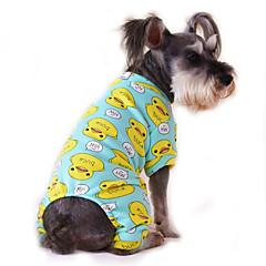Γάτα Σκύλος Φόρμες Πυτζάμες Ρούχα για σκύλους Χαριτωμένο Καθημερινά Κινούμενα σχέδια Κίτρινο Κόκκινο Μπλε Ροζ Μπλε-Κίτρινο Στολές Για