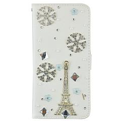 Mert Pénztárca / Kártyatartó / Strassz / Állvánnyal / Flip Case Teljes védelem Case Eiffel torony Kemény Műbőr SamsungNote 5 / Note 4 /