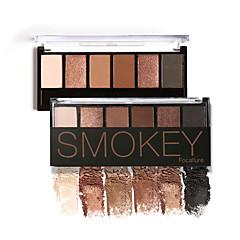 6 Paleta de Sombras Secos / Mate / Brilho / Mineral Paleta da sombra Pó NormalMaquiagem para o Dia A Dia / Maquiagem para Halloween /