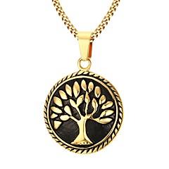 Недорогие Ожерелья-Муж. Позолота Ожерелья с подвесками - Нержавеющая сталь Позолота Мода Ожерелье Назначение Для вечеринок Повседневные