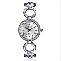 Women's Fashion Watch / Wrist watch / Bracelet Watch Quartz Water Resistant/Water Proof / Stopwatch Alloy Band Charm / Casual Silver Brand