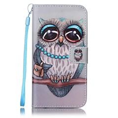 Χαμηλού Κόστους Galaxy S6 Θήκες / Καλύμματα-tok Για Samsung Galaxy S8 Plus S8 Πορτοφόλι Θήκη καρτών με βάση στήριξης Πλήρης κάλυψη Κουκουβάγια Σκληρή PU Δέρμα για S8 S8 Plus S7 edge