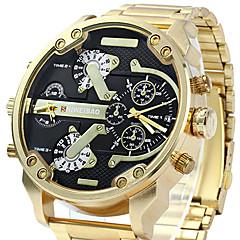 preiswerte Tolle Angebote auf Uhren-Herrn Armbanduhr / Armband-Uhr / Militäruhr / Sportuhr Kalender / Wasserdicht / Kreativ / Großes Ziffernblatt / Punk / Cool Edelstahl Band