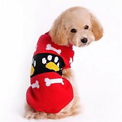 billige Kat Tøj-Kat Hund Bluser Jul Hundetøj Farveblok Rød Lys pink Akryl Fibre Kostume For kæledyr Herre Dame Sødt Nytår