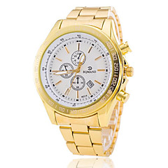 cheap -Men's Fashion Sport Quartz  Steel Belt Gold Watch(Assorted Colors) Wrist Watch Cool Watch Unique Watch