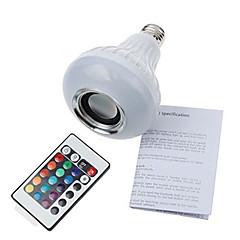 E26/E27 LED-pallolamput A90 1 SMD 5060 900 lm Kylmä valkoinen RGB Koristeltu Bluetooth Himmennettävä Kauko-ohjattava V 1 kpl