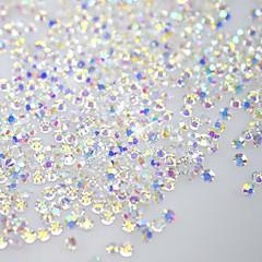 billige Krystal rhinsten-120pcs skinne flatback / ottekantede form negle kunst dekorationer glitter rhinestone 3d klar krystal ss3 ab diamant