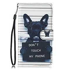 billige Galaxy S6 Etuier-Etui Til Samsung Galaxy S7 edge S7 Kortholder Pung Med stativ Heldækkende Hund Hårdt Kunstlæder for S7 edge S7 S6 S5