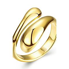 preiswerte Ringe-Damen Geometrisch Ring - Roségold, Kupfer, versilbert 6 / 7 / 8 Silber / Rose / Golden Für Hochzeit / Party / Alltag / vergoldet / Rose Gold überzogen / vergoldet / Rose Gold überzogen