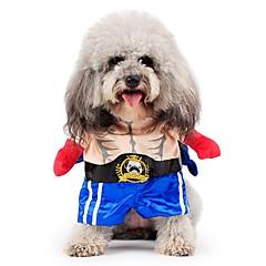 tanie Ubranka i akcesoria dla psów-Koty Psy Kostiumy Płaszcze Stroje Kombinezon Ubrania dla psów Zima JeansyUrocze Cosplay Modny Zatrzymujący ciepło Halloween Święta Bożego
