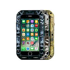 Для Вода / Грязь / Надежная защита от повреждений Кейс для Чехол Кейс для Камуфляж Твердый Металл Apple iPhone 7 Plus / iPhone 7