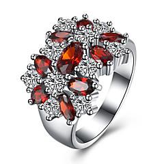Δαχτυλίδι Cubic Zirconia Ζιρκονίτης Χαλκός Τιτάνιο Ατσάλι απομίμηση διαμαντιών Κόκκινο Κοσμήματα Καθημερινά Causal 1pc
