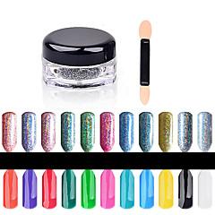 Schitteren & Poeder-Andere-1box nail powder + 1pcs brush- stuks1.5cm*3cm- (cm)